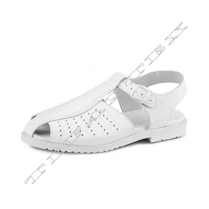 Sandále SANITAR KLASIK biele - pracovná obuv TifanTEX 674dab4e416