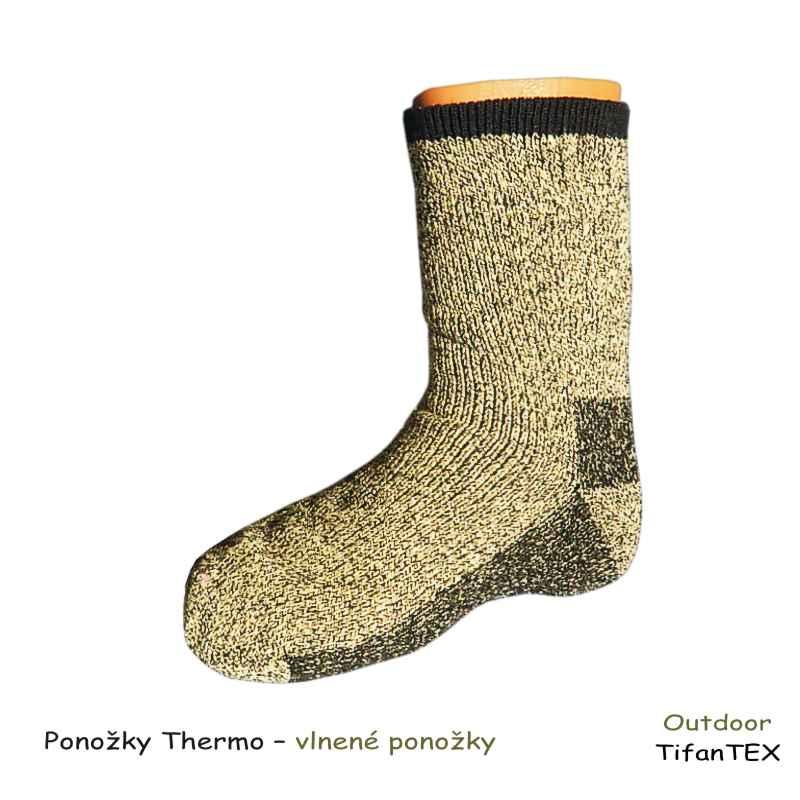 dfa832b737a Ponožky Thermo vlnené - TifanTEX obuv
