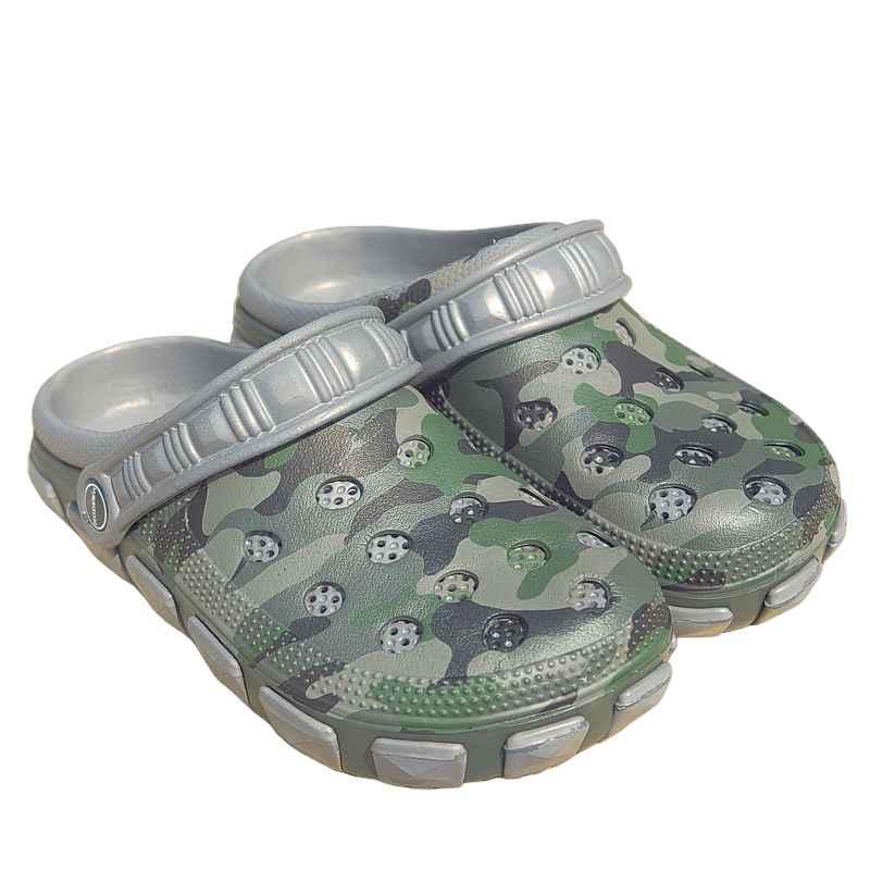 c95c08e4722 dámske kroksy maskáčové sivé - TifanTEX obuv