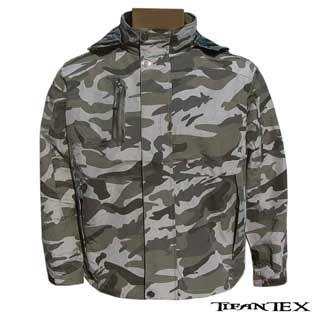 Bunda QF Fashionable camo grey – nepremokavá