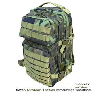 Batoh Outdoor Tactics camouflage woodland 20L