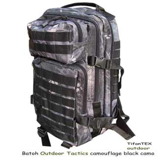 Batoh Outdoor Tactics camouflage black camo 20L