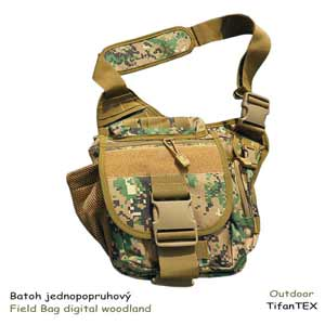 Batoh jednopopruhový Field Bag digital woodland 4L