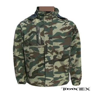 Bunda QF Fashionable camo green – nepremokavá